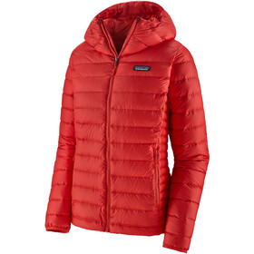 Patagonia Down Sweater Capuchon Jas Dames, rood